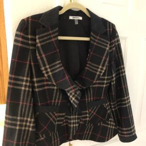 DKNYC black, plaid Blazer